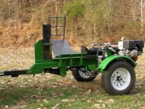 Homemade 30 ton Log splitter with log lift and adjustable 4-way blade - YouTube