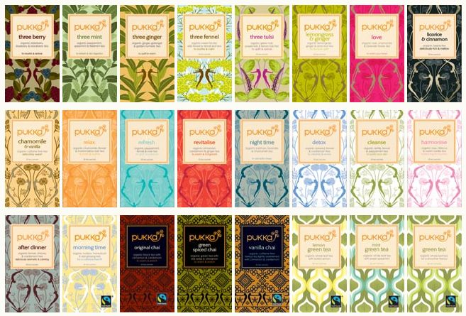 The entire Pukka Herbs Tea range, gorgeous isn't it?    http://www.nombox.co.uk/index.php?route=product/manufacturer/product_id=58=100