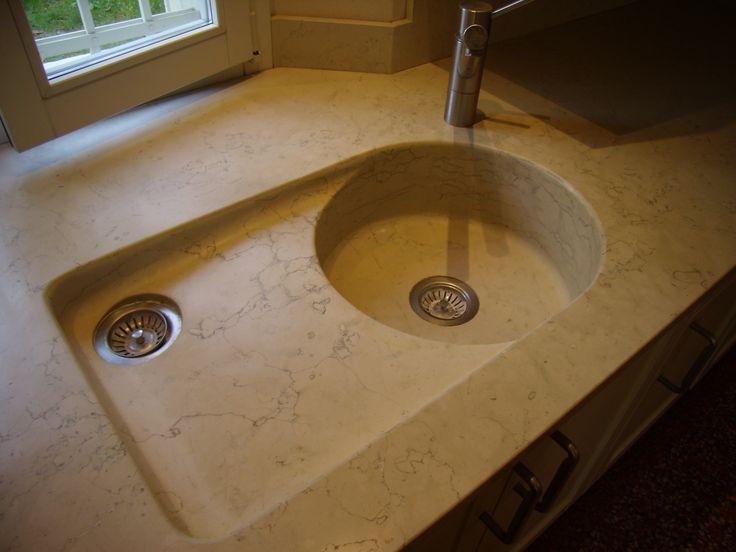 Top per cucina bulthaup integrato al lavello in massello - Top cucina in pietra ...