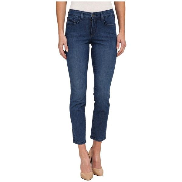 NYDJ Clarissa Ankle in Yucca (Yucca) Women's Jeans ($80) ❤ liked on Polyvore featuring jeans, zipper jeans, ankle zipper jeans, blue jeans, ankle jeans and nydj jeans