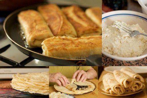 Polen – naleśniki  Deze Poolse pannenkoekjes hebben nog het meeste weg van Franse crêpes en worden standaard gevuld en opgerold geserveerd.