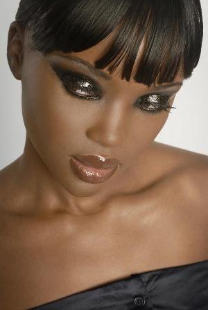 LANAYEL : Beautés Noires, Métisses et du Tout-Monde: Maquillage peau noire : inspirations