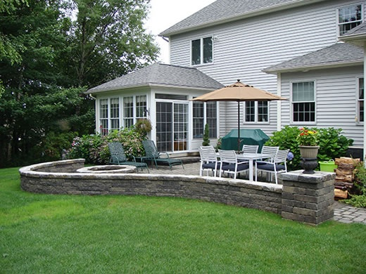 Patio Sitting Walls Provide Extra Seating And Are A Good Way To Define Or  Divide An