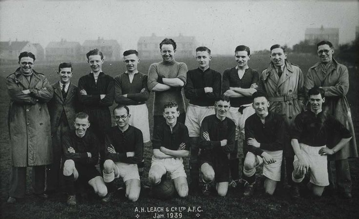 The A.H Leach & Co Ltd Football Team pictured in 1939. Many of these employees will have gone to war.