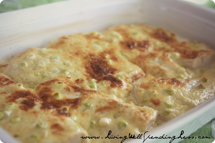 The Very Best Fish Recipe: An super versatile creamy parmesan topping that works with almost any kind of fish...yum!