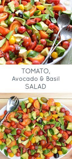 Tomato, Avocado & Basil Salad is a simple, flavorful healthy recipe ...
