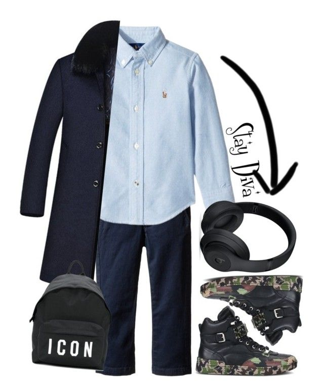"""""""Kids Fashion"""" by staydiva on Polyvore featuring Moschino, Beats by Dr. Dre, Dsquared2, men's fashion y menswear"""
