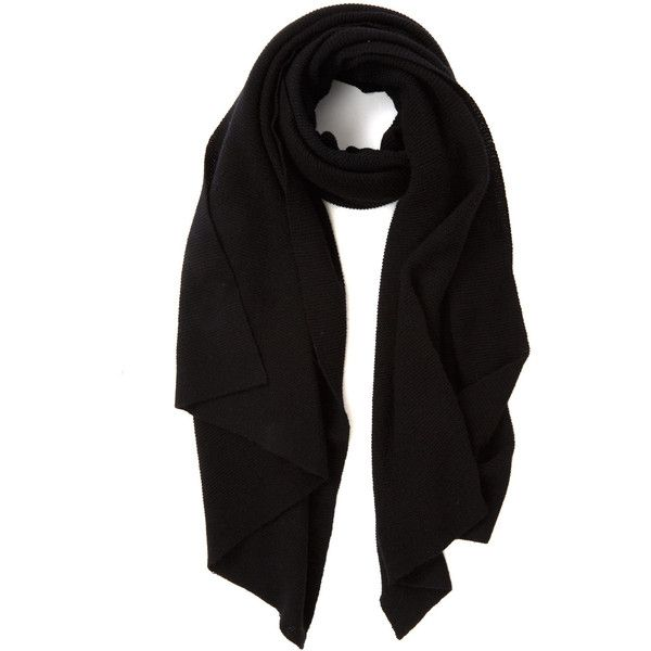 Cash Ca Black Cashmere Pashmina Scarf ($355) ❤ liked on Polyvore featuring accessories, scarves, black, cashmere shawl, oversized scarves, cash ca and cashmere scarves