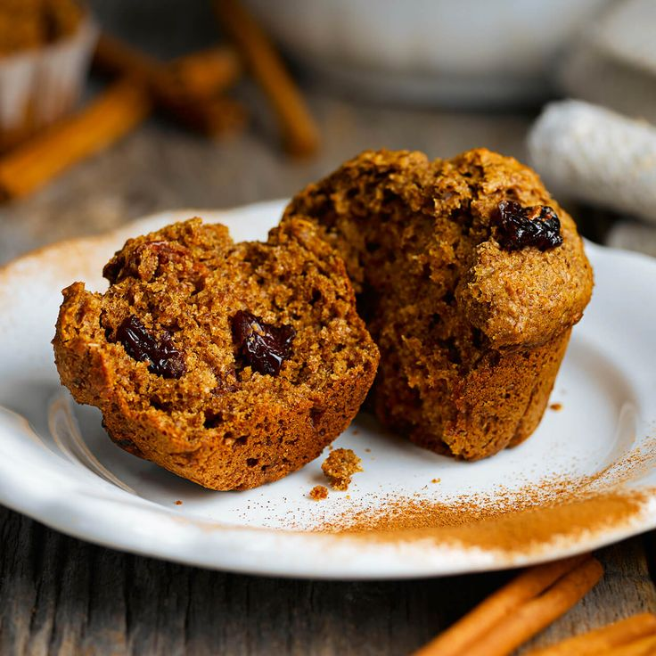 Muffins cannelle et raisins secs