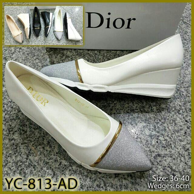 Sepatu Dior Wedges YC-813-AD 35-40 6cm 310rb