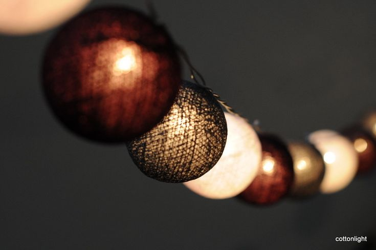 New string light 3meters long with 20 balls. The Balls made from cotton. It is handmade product . It is suitable for use for both indoor and outdoor. It come with adapter converter to match your country plug .