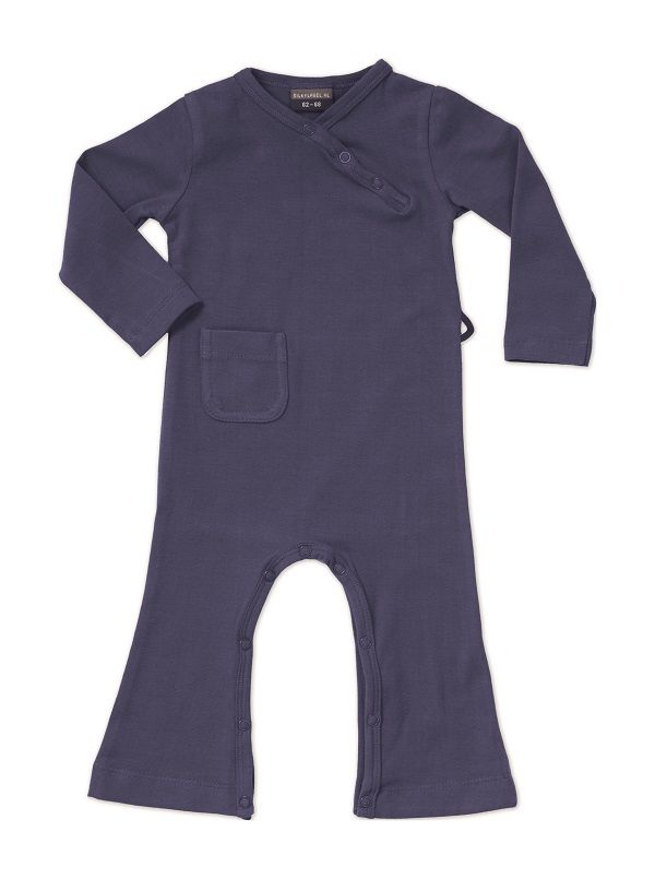 Basic purple jumpsuit.  Newborn retro suit for babies and toddlers up to 4 years.