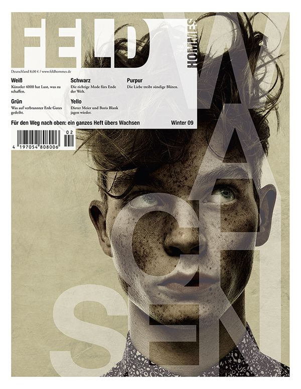 typography & transparency /// Feld Hommes | Cover Story by Per Zennström...freckles and wild man hair