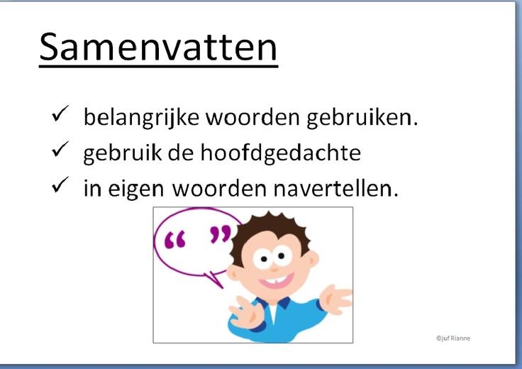 Samenvatten - Kaart voor begrijpend lezen .- plaatje van Nieuwsbegrip - gemaakt door Rianne Sluijs