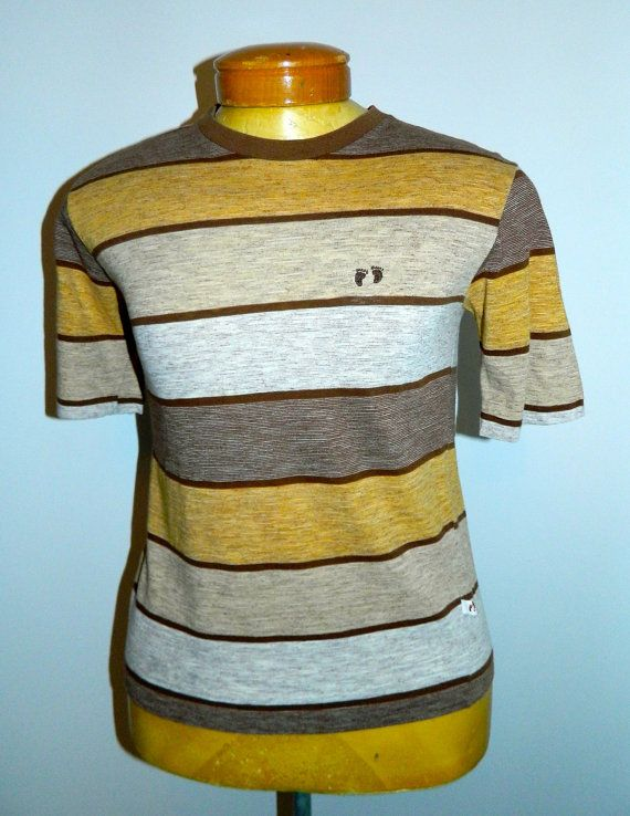 vintage 1960s HANG TEN tee shirt brown gold by RetroHommeVintage, $73.00