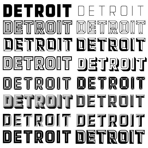 "Sweet ""Detroit"" typeface review. For reals."