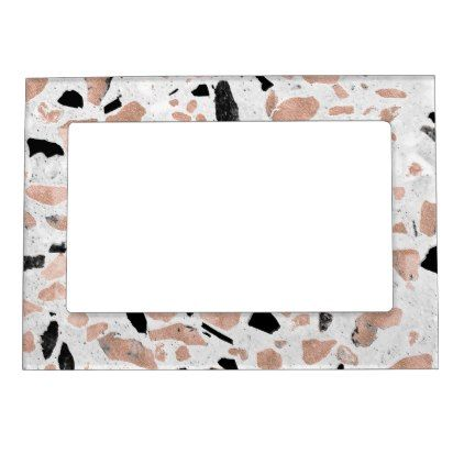 #vintage - #Classy rose gold vintage marble abstract terrazzo magnetic picture frame