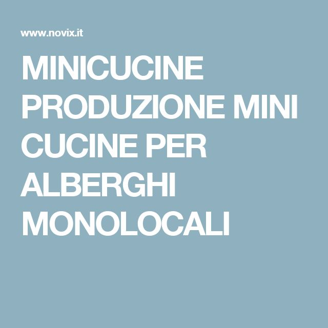 Oltre 20 migliori idee su monolocali su pinterest studio - Mini cucine per monolocali ...