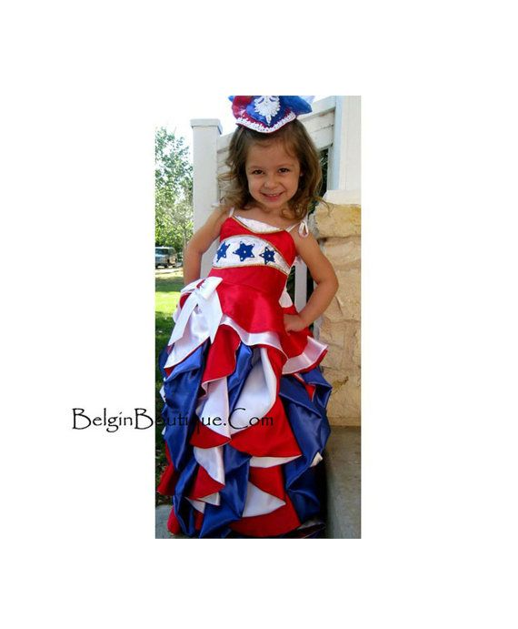 Pageant OOC baby toddler RWB Patriotic 4 July National wear talent wear sport wear sassy by BelginBoutique.com