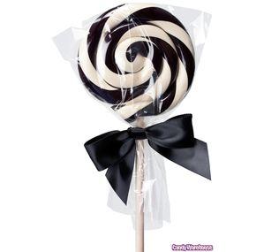 White & Black 2-Ounce Swirl Pops: 12-Piece Box