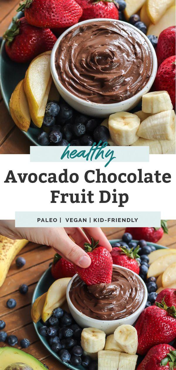 Amazing Avocado Chocolate Fruit Dip Vegan Recipe Chocolate