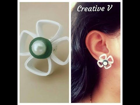 How to make Quilling Stud Earring/ Design 5/Tutorial - YouTube