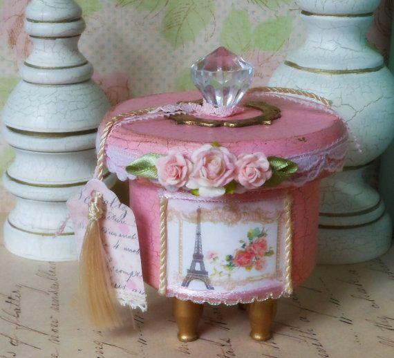 Decorative Box Small Keepsake Box Shabby Chic by BlissfulBoxes