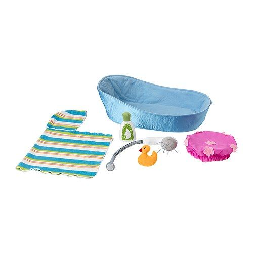 LEKKAMRAT Doll furniture, bathtub/accessories IKEA Perfect for bathing your child's favorite LEKKAMRAT doll. Encourages role play.