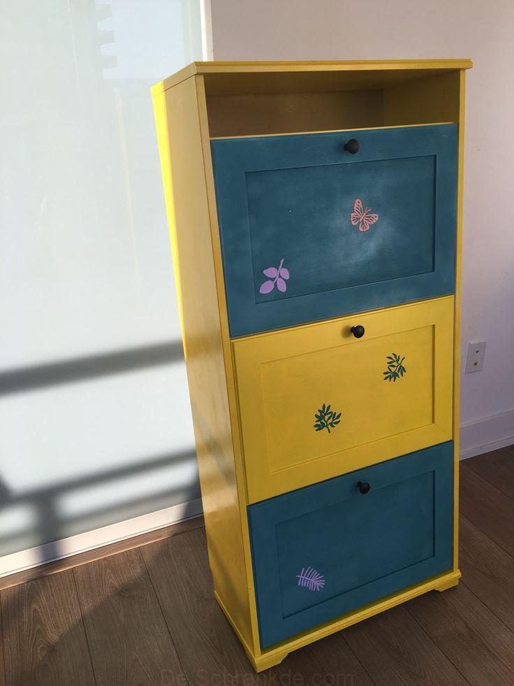Bemalter Ikea Brusali Schuhschrank Kabinett Bemalt Schublade
