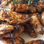 Super Easy and AMAZING Korean BBQ Grilled Wings! An awesome change from just the store bought BBQ sauce! Everyone will love them! #chicken #BBQ #grilled