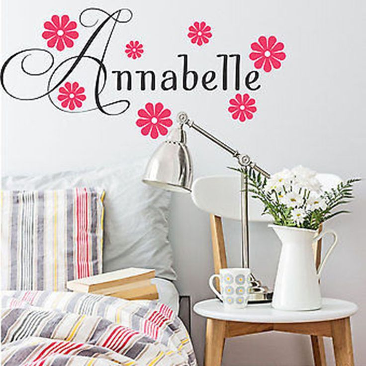 Best Girls Name Decals Images On Pinterest Wall Decal - Custom vinyl wall decals flowers