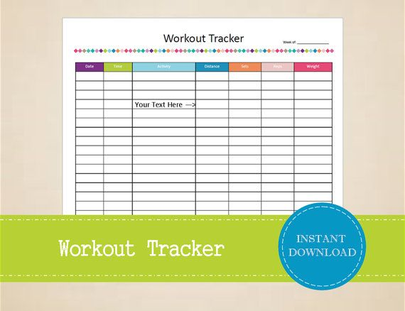 The 25+ best Workout log printable ideas on Pinterest Free - training log template