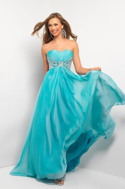 e140ec39bdd30 Check out the deal on Size 6 Blue Mist Blush 9509 Beaded Chiffon Evening  Dress at