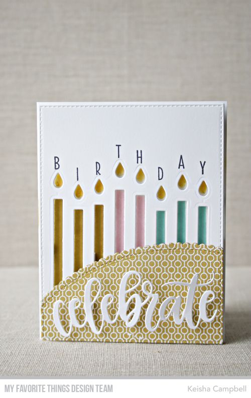 Stamps Happy Birthday Candles Lined Up Dots Background Die Namics Celebrate Stitched Scallop Basic Edges A2 Rectangle STAX Set