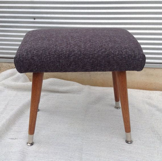 Check out this item in my Etsy shop https://www.etsy.com/au/listing/248671546/retro-vintage-60s-footstool-with-timber