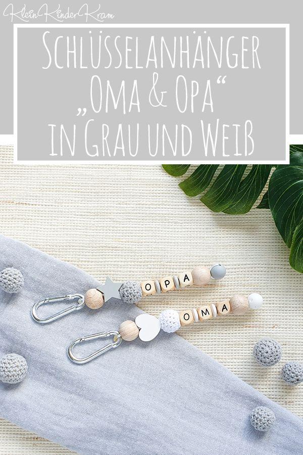 Schlüsselanhänger für Oma & Opa – Als Geschenk oder Bekanntmachung der Schwangerschaft – KleinKinderKram – handgemacht & individuell: deine Schnullerketten & Co!