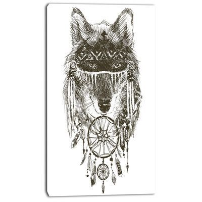 Native American Wolf Warrior Drawing