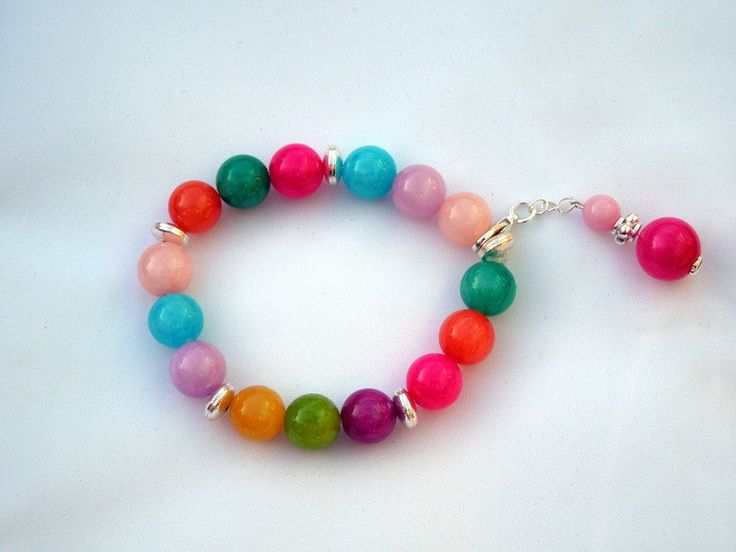 Gemstone Stretch Bracelet Made From Multi Coloured