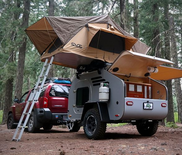 If you spend much of your time outside, in nature, you should consider an off-road trailer. Teardrop trailers offer a very comfortable and secure place to sleep, they are compact and can be towed easily by most cars, and keep you off the ground in an