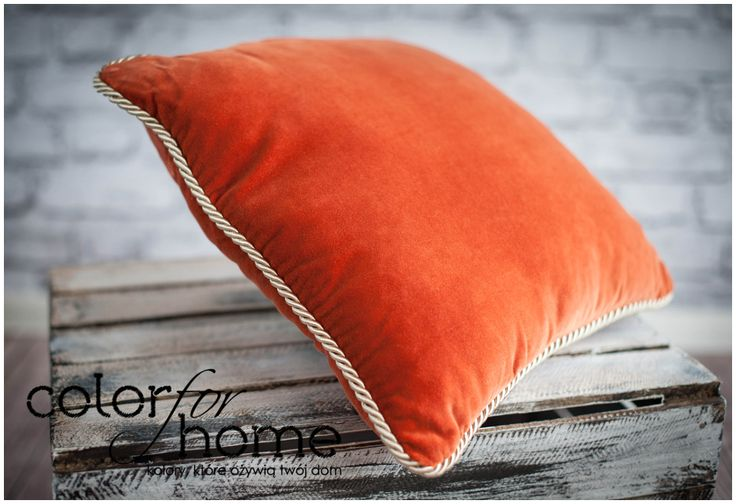 Intensive Orange Hand Made Pillow by Color For Home. Write us at team@colorforhome.pl if you want one :)