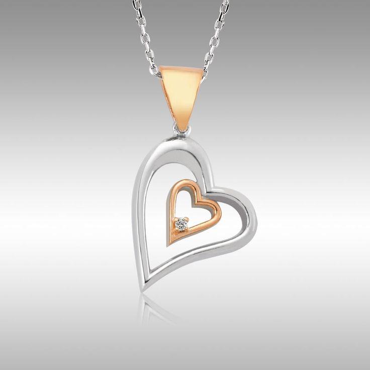 Sevgililer Günü Özel - İçten Kalpler Pırlanta Kolye - Tektaş Yüzük hediyeli :: Zinde Market