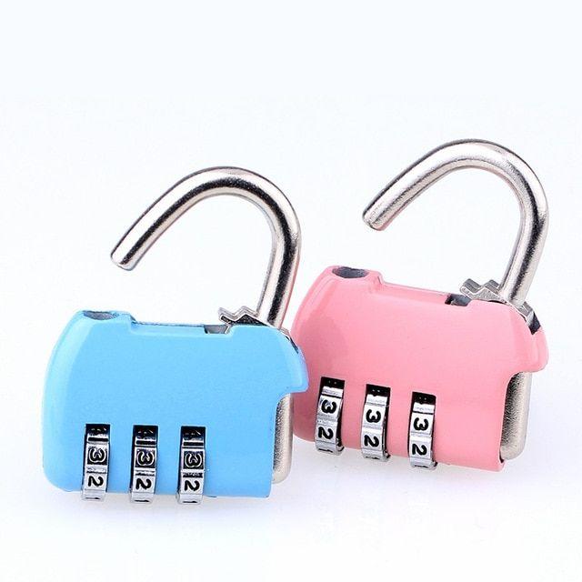 Password Lock Combination Lock Polished Chrome-zinc Alloy Coded Password Locker