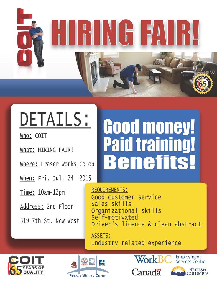 COIT Hiring Fair at Fraser Works Co-op Friday July 24th!!