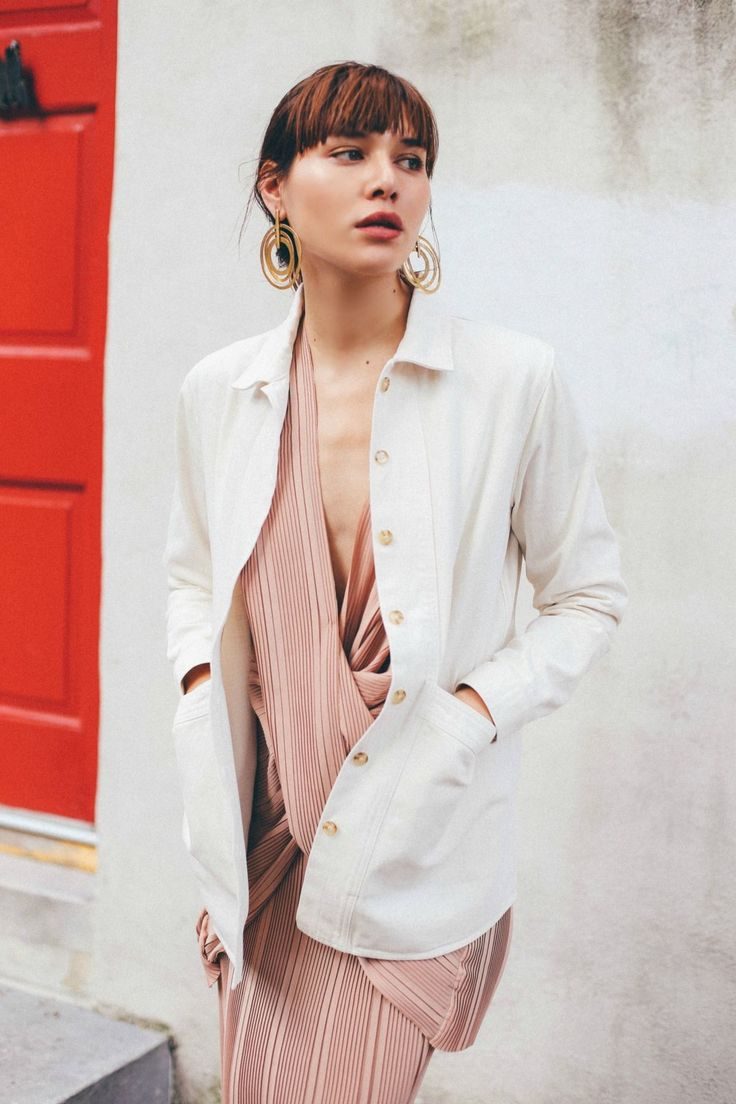 Think pink this spring and get inspired by these bloggers' fresh take on the color below. Rock a blush velvet wrap dress with stiletto sandals for a stunning evening look. Alternatively, add an...