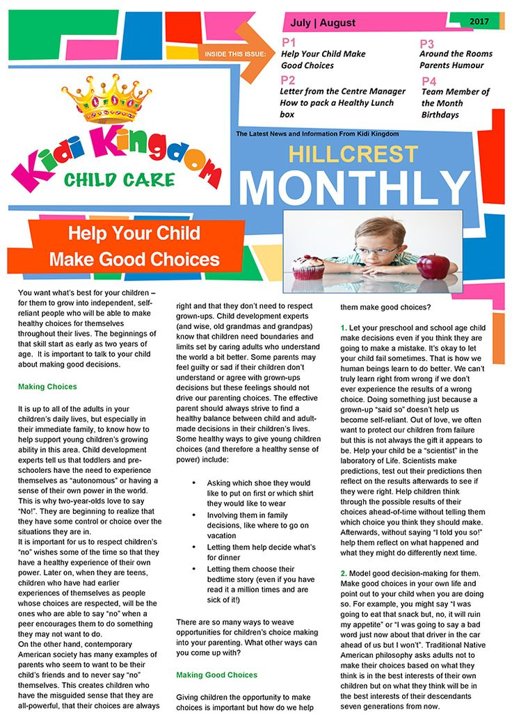 Welcome to the July / August Edition of Kidi Kingdom - Hillcrest News.  #Newsletter #ChildCare #Kindergarten #ChildrenFun #HappyChildren