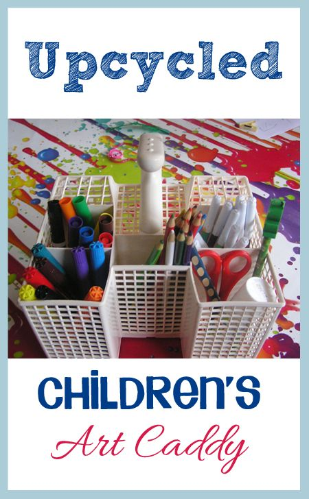 Help Children develop their creativity and skills by providing easy access to some art equipment using this quick upcycled Art Caddy for kids