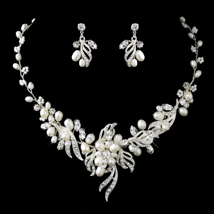 Lovely Freshwater Pearl And Crystal Wedding Jewelry Set -sale! - Affordable Elegance Bridal -