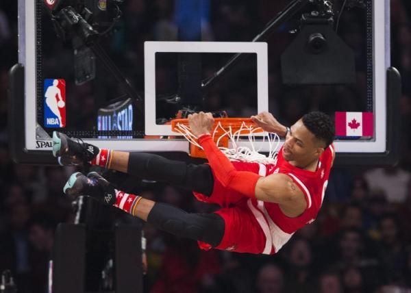 Russell Westbrook's relentlessness leads to back-to-back All-Star MVP awards.