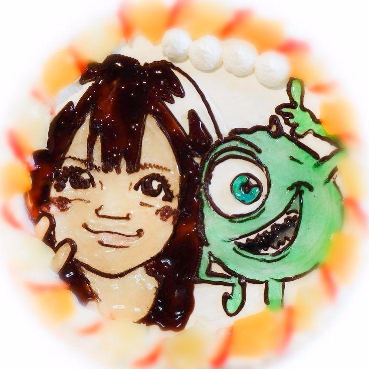 似顔絵ケーキ  #似顔絵ケーキ #キャラクター #可愛い #似顔絵 #誕生日ケーキ #オーダーケーキ #バースデーケーキ #portrait #cake #birthdaykake #プレゼント #通販 #宅配 #全国発送 #pinterest