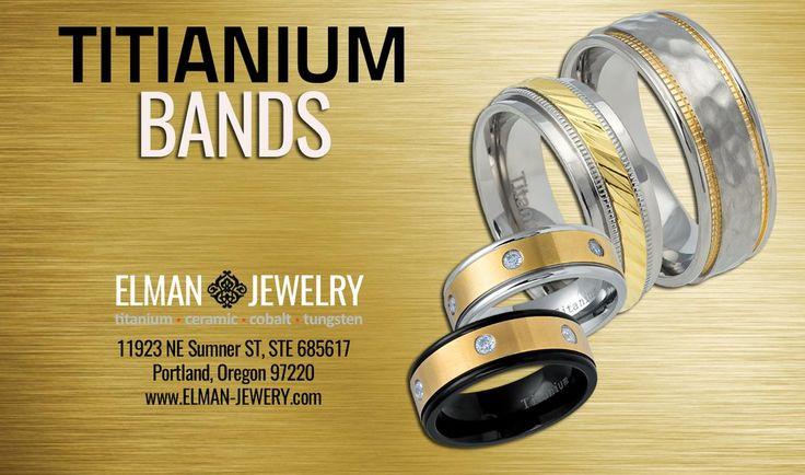 Titanium Wedding Bands by ELMAN JEWELRY#elmanjewelry #jewelry #wedding #rings #bands #weddingband #weddingbands #tungstenrings #titaniumrings